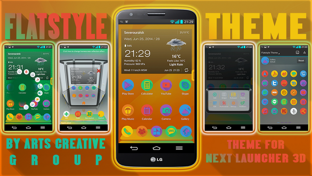 Next Launcher 3d Theme FlatStyle by ArtsCreativeGroup