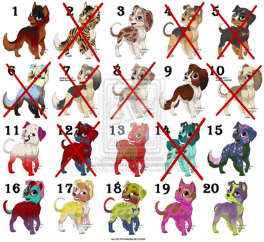 Puppy Adoptables! 2 pts!! 11/20 available by PsychNcisLostLover