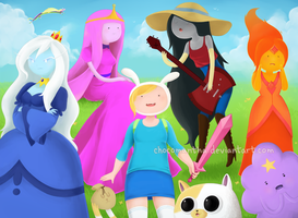 Adventure Time Girls by chocomantha