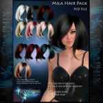 Mila Painted Instant Hair PSD add on hair stock by MakeMeMagical