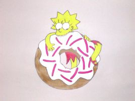 Lisa eats Donut by Shagggy1987
