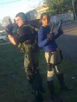 Chris Redfield and Lara Croft by Chris--Redfield