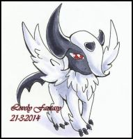 Mega_Absol_Chibi by lovelyfantasy