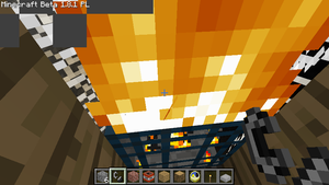 Burning mobspawner by TigaLioness