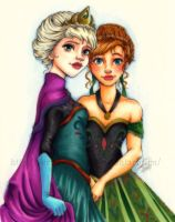 Anna and Elsa by Kerrie-Jenkins