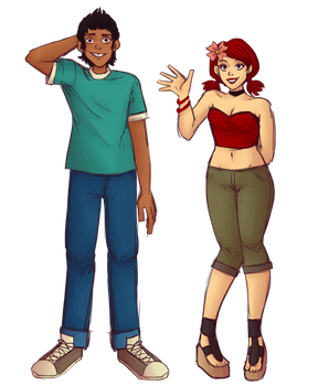 Mike and Zoey by ectonurites