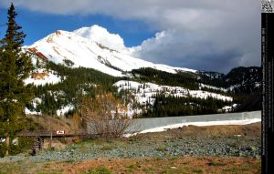 Red Mountain With Mining Rail Road by DamselStock