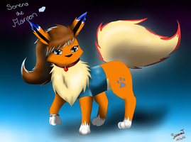 .::Sorena the Flareon::. by SkyBlueArts