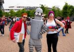 Fry, Bender and Leela Cosplays by NiGHTSflyer129