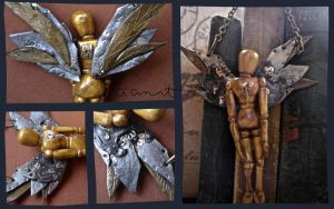 Mechanical Angel/Drawing Doll by N-Chiodo