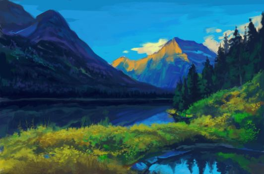 Mountains quick paint by Dazdays