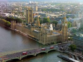 view from the London Eye by Maiyoko