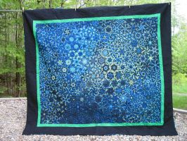 Jellyfish Nebula - a one-block wonder quilt by ladyiolanthe