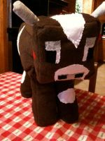 Plush Minecraft Cow by GreyAneria