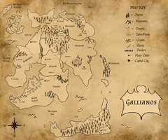 Map of Gallianos by SpookyBjorn