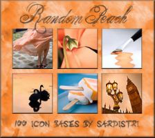Peach Coloured Icon Bases by Sardistri