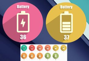 Shadow Button Battery HD for xwidget by jimking
