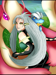 PoKEMONoC_Aurora Pendragon_ between the peace by SoulOfPersephone