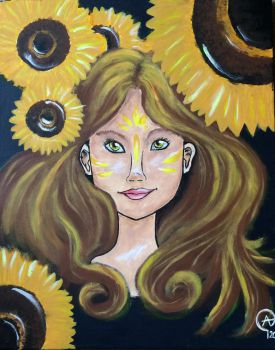 Spirit of the Sunflowers  by Iloveowls1125