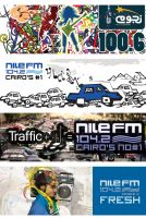 Nile FM and Nogoom FM banners by douf
