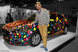 Ben Heine Art - Mazda 3 Car - Brussels Affordable  by BenHeine