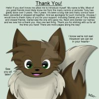 Mio The Eevee Says Thank You! by Zander-The-Artist