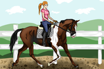 Zoey and Empire dressage training by PSitsAshy