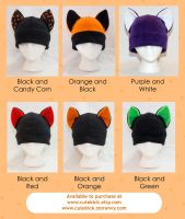 Halloween Cat Hats by cutekick