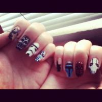 Star Wars nails by jackomalfoy