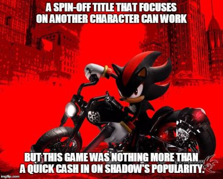 Shadow the Hedgehog (Thoughts in a Nutshell) by gameman5804