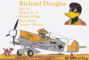 Richard and his BF-109G2 Trop by DingoPatagonico