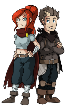 Rythian and Zoey by Teutron