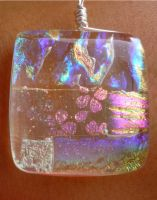 Clear Dichro Fused Glass by FusedElegance