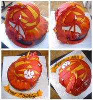 Bakugan cake by Cakerific