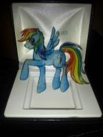 For Sale: Rainbow Dash Keychain by skipperofotters05