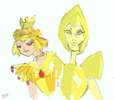 Galaxia and Yellow Diamond by LeDaLe14