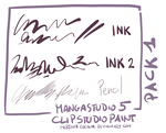 MangaStudio 5 - clip studio paint - brushes pack1 by martinacecilia