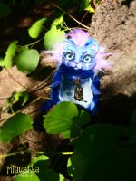 Night Elf Druid Cat Handmade Plushie - WoW by miaushka-workshop