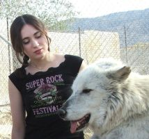 Me at the Wolf Reserve by Meadowknight