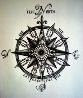 True North Compass Tattoo by DesertDahlia