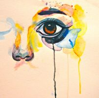 Watercolor Eye by glitterstuddedheart
