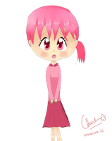pink girl by charlizewendy