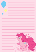 MLP: FiM Pinkie Pie Notepaper by Dekkii