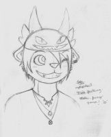I'm a fucking otaku, furry gamer (sketch) SQN by mytigertail