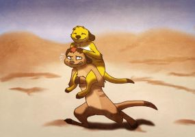 Timon and Rikki by Fallen-Beast