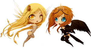 The Winged Ones :Chibis: by Doria-Plume