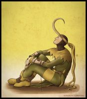 Lonesome Loki  by Serrifth