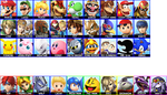 Super Smash Bros. Vote Roster by aamccormick1999
