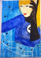 Water Color 2- Invisible Woman by QueenoftheLemurs