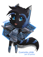 +:.comision chibi 11.:+ ~saphir~ by Zombiezul